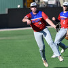 MVP's Colby Jarnigan makes an off balance throw to first against 417 Mets during the Connie Mack South Plains Regional Friday, July 10, 2020 at David Allen Memorial Ballpark. (Billy Hefton / Enid News & Eagle)