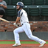 Enid Major's Bryce Madron hits a double against the Oklahoma Drillers Friday, June 26, 2020. (Billy Hefton / Enid News & Eagle)