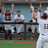 Tanner Huddleston gestures toward the Jones County dugout after hitting a double against Gateway CC during the NJCAA DII World Series at David Allen Ballpark June 3, 3016. (Billy Hefton / Enid News & Eagle)