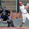 Jones County's Tanner Huddleston hits a double against Gateway CC during the NJCAA DII World Series at David Allen Ballpark June 3, 3016. (Billy Hefton / Enid News & Eagle)