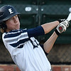 Enid Majors' Clay Masters gets a base hit against the OKC Expos Wednesday June 21, 2017 at David Allen Memorial Ballpark. (Billy Hefton / Enid News & Eagle)