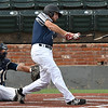 Enid Majors' Matt Conerly breaks his bat against Ft. Smith Kerwins Friday June 23, 2017 at David Allen Memorial Ballpark. (Billy Hefton / Enid News & Eagle)
