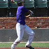 Rodney Phelps hits a single during the Midwest Showcase Saturday June 10, 2017 at David Allen Memorial Ballpark. (Billy Hefton / Enid News & Eagle)