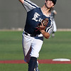 Enid Major's Garrett DeHaas delivers a pitch against Bartlesville Friday June 22, 2018 at David Allen Memorial Ballpark. (Billy Hefton / Enid News & Eagle)