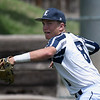 Enid Major's Connor Gore makes a throw to first during the Connie Mack Regional Qualifing Tournament Saturday June 16, 2018 at David Allen Memorial Ballpark. (Billy Hefton / Enid News & Eagle)
