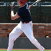 Tanner McQuian of the Oklahoma Expos connects on a double against the SW Shockers Black during the Connie Mack Regional Qualifing Tournament Friday June 15, 2018 at David Allen Memorial Ballpark. (Billy Hefton / Enid News & Eagle)