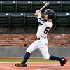Enid Majors' Ambren Voitik connects on a solo homerun against the Colorado Khoas during the Connie Mack Regional Qualifing Tournament June 14, 2018 at David Allen Memorial Ballpark. (Billy Hefton / Enid News & Eagle)