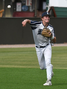 Enid Majors' Connor Gore makes a throw to first against Weatherford Monday, June 1, 2020 at David Allen Memorial Ballpark. (Billy Hefton / Enid News & Eagle)