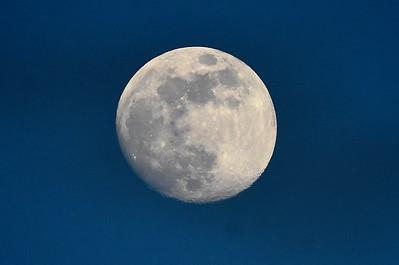 A near full moon Wednesday, June 3, 2020 at David Allen Memorial Ballpark. (Billy Hefton / Enid News & Eagle)