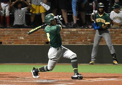 Western Oklahoma's Sammy De La Cruz hits a home run against LSU Eunice during the NJCAA DII World Series Saturday, June 5, 20212 at David Allen Memorial Ballpark. (Billy Hefton / Enid News & Eagle)