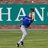 Kellogg's Kyle Van Liere runs downa fly ball against LSU Eunice during the NJCAA DII World Series Wednesday, June 2, 2021 at David Allen Memorial Ballpark. (Billy Hefton / Enid News & Eagle)