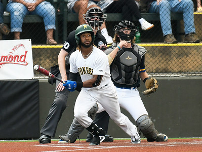 Western Oklahoma's Jhonny Felix gets a base hit against Patrick Henry during the NJCAA DII World Series Wednesday, June 2, 2021 at David Allen Memorial Ballpark. (Billy Hefton / Enid News & Eagle)
