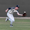 Enid Majors' Drake Kerr runs down a fly ball in centerfield against 3 Rivers during the Enid Festival at David Allen Memorial Ballpark Friday, June 11, 2021. (Billy Hefton / Enid News & Eagle)