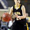 Alva's Jaden Hobbs during the Lady Bugs 53-36 loss to Northeast in the class 2A championship game Saturday at the State Fair Arena in Oklahoma City. (Staff Photo by BILLY HEFTON)