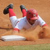 NOC-Enid Jets' Chase Knott slides back to first during a game against the Rose State Raiders at David Allen Memorial Ballpark Saturday, March 16, 2013. (Staff Photo by BONNIE VCULEK)