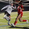 Enid's Brianna Burrow controls the ball against a Del City player during the Pacers' 9-0 win at D. Bruce Selby Stadium Friday, March 8, 2013. (Staff Photo by BONNIE VCULEK)