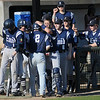 The Enid Plainsmen celebrate their 3-1 lead over the Yukon Millers during the Gladys Winters Tournament at David Allen Memorial Ballpark Saturday, March 30, 2013. (Staff Photo by BONNIE VCULEK)