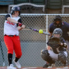 NOC Enid's Selika Shives connects on her second hit against Rose State Saturday at David Allen Memorial Ballpark. (Staff Photo by BILLY HEFTON)