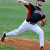 NOC Enid's Jon Chidester delivers a pitch against Crowley County Tuesday at Failing Field. (Staff Photo by BILLY HEFTON)