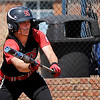 NOC Enid's Avery Walker bunts against Carl Albert Wednesday. (Staff Photo by BILLY HEFTON)