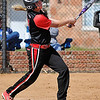 NOC Enid's Kori Barrios connects on a walk off home run against Carl Albert Wednesday. (Staff Photo by BILLY HEFTON)