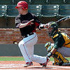 NOC Enid's Haden Johnson connects on a RBI single against Western Oklahoma Sunday. (Staff Photo by BILLY HEFTON)