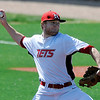 NOC Enid's Jon Chidester delivers a pitch against Redlands Community College Thursday at David Allen Memorial Ballpark. (Staff Photo by BILLY HEFTON)