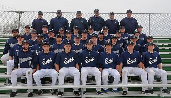 Enid High School Baseball Team (Staff Photo by BONNIE VCULEK)