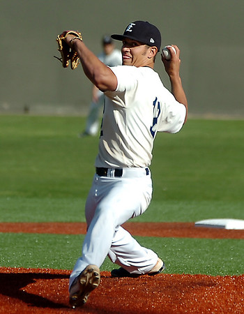 Enid's Christian Voitik delivers a pitch against Broken Arrow Monday at David Allen Memorial Ballpark. (Staff Photo by BILLY HEFTON)