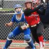 NOC Enid's Kaylon Dunn hits a homerun against Eastern CC Saturday March 25, 2017 at Failing Field on the NOC Enid campus. (Billy Hefton / Enid News & Eagle)