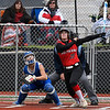 NOC Enid's Brooke Rains hits a homerun against Eastern CC Saturday March 25, 2017 at Failing Field on the NOC Enid campus. (Billy Hefton / Enid News & Eagle)