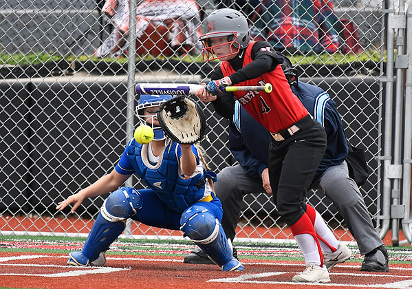 NOC Enid's Brook Hendrickson lays down a bunt against Eastern CC Saturday March 25, 2017 at Failing Field on the NOC Enid campus. (Billy Hefton / Enid News & Eagle)