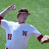 NOC Enid's Josh Rutland delivers a pitch against Ellsworth CC Thursday March 9, 2017 at David Allen Ballpark. (Billy Hefton / Enid News & Eagle)