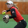 NOC Enid's makes a throw to first against Eastern CC Saturday March 25, 2017 at Failing Field on the NOC Enid campus. (Billy Hefton / Enid News & Eagle)