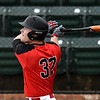 NOC Enid's Griffin Keller hits a triple against Rose State Monday March 26, 2018 at David Allen Memorial Ballpark. (Billy Hefton / Enid News & Eagle)