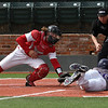 NOC Enid catcher, Dylan Caplinger tags out Ellsworth CC's Reed Collins at home Friday March 9, 2018 at David Allen Memorial Ballpark. (Billy Hefton / Enid News & Eagle)