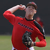 NOC Enid's Cooper Harris delivers a pitch against NE Nebraska Saturday March 17, 2018 at David Allen Memorial Ballpark. (Billy Hefton / Enid News & Eagle)