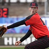 NOC Enid's Kaleb McCullough delivers a pitch against Kansas Wesleyan Thursday March 14, 2019 at David Allen Memorial Ballpark. (Billy Hefton / Enid News & Eagle)