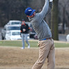 Heath Myers tees off in the Enid 4-Ball tournament Saturday March 23, 2019 at Oakwood Country Club. (Billy Hefton / Enid News & Eagle)