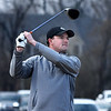 Robert Raborn tees off in the Enid 4-Ball tournament Saturday March 23, 2019 at Oakwood Country Club. (Billy Hefton / Enid News & Eagle)