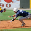 LSU-Eunice's Garrett Deschamp gets the tag on Lackawanna College's Michael Abrunzo near second during the opening game of the 75th annual NJCAA World Series Division II at David Allen Memorial Ballpark Saturday, May 25, 2013. (Staff Photo by BONNIE VCULEK)