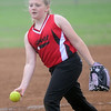 Heat's Avery Dugger delivers a pitch. (Staff Photo by BONNIE VCULEK)