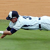 Heartland's Mason Snyder dives for a blooper on the infield against UConn Avery Point during the NJCAA Div II World Series Sunday at David Allen Ballpark. (Staff Photo by BILLY HEFTON)