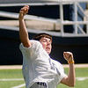 Enid's Kyle Callaway throws a pass during the Plainsmen's spring practice Wednesday, May 22, 2013. (Staff Photo by BONNIE VCULEK)