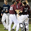 Hinds CC players celebrate their 12-6 win over Madison College Friday to advance to the championship game of the NJCAA DII World Series against Mesa CC at David Allen Memorial Ballpark. (Staff Photo by BILLY HEFTON)