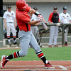 NOC Enid's Jerame Littell connects with a pitch during the NJCAA Division II World Series at David Allen Memorial Ballpark Saturday, May 24, 2014. (Staff Photo by BONNIE VCULEK)