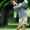 Enid's Riley David hits onto the 2nd green Monday May 2, 2016 at Meadowlake Golf Club during the afternoon session of a 6A regional golf tournament. (Billy Hefton / Enid News & Eagle)