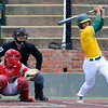 Western Oklahoma State's Franely Gonzales hits a RBI single against NOC Tonkawa Sunday May 15,2016 during the Region 2 District tournament at David Allen Ballpark. (Billy Hefton / Enid News & Eagle)