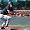 NOC Enid's Daniel Davila heads to first after getting a basehit against Carl ALbert Thursday May 12, 2016 during the Region 2 District tournament at David Allen Ballpark. (Billy Hefton / Enid News & Eagle)