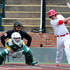 NOC Tonkawa's Walker Whitworth hits aRBI single against Western Oklahoma State Sunday May 15,2016 during the Region 2 District tournament at David Allen Ballpark. (Billy Hefton / Enid News & Eagle)